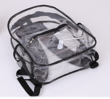 Transparent clear PVC backpack gift backpack custom logo waterproof