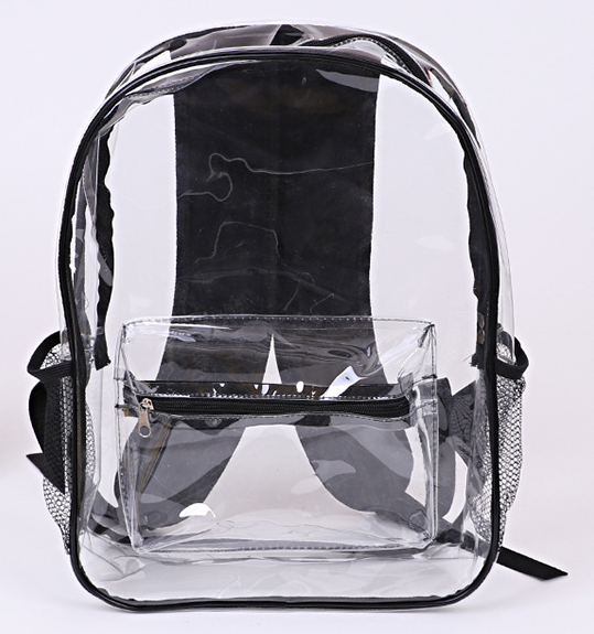 Transparent clear PVC backpack