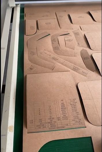 open paper mould for bag sample making